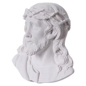 Volto di Cristo cm 14 polvere di marmo s2