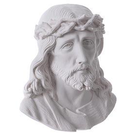 Volto di Cristo cm 14 polvere di marmo s3