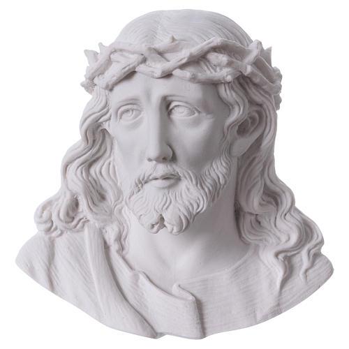 Volto di Cristo cm 14 polvere di marmo 1
