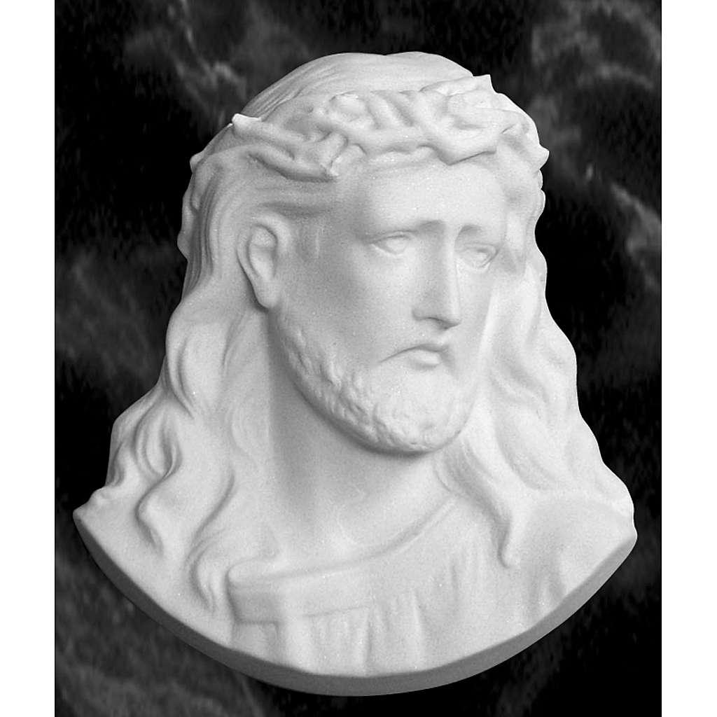 Cara de Cristo de 10 cm en polvo de mármol 3