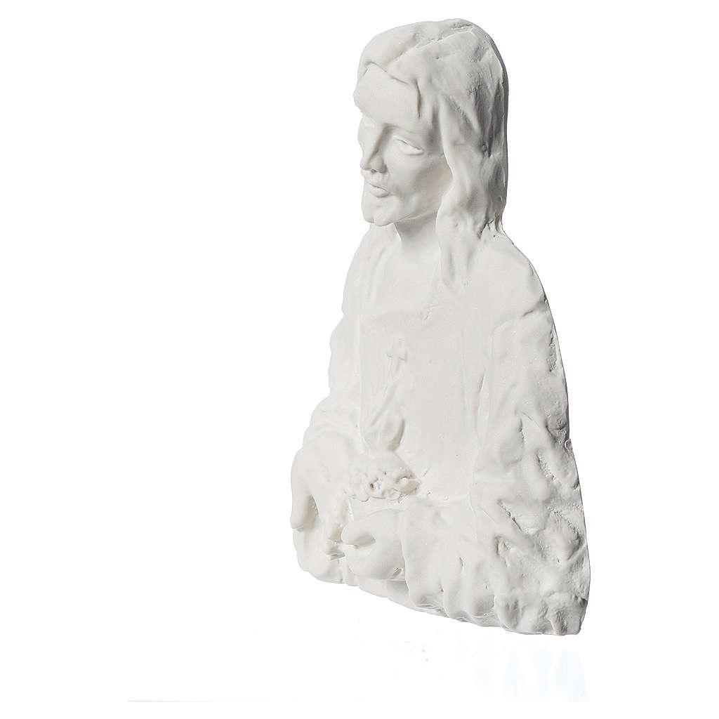 Sagrado Corazón de Jesús 18 cm,  en relieve 3