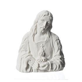 Sagrado Corazón de Jesús 18 cm,  en relieve s1