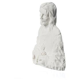 Sagrado Corazón de Jesús 18 cm,  en relieve s3