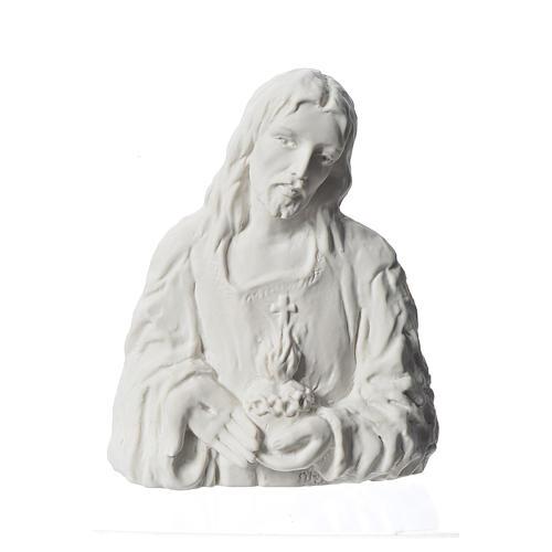 Sagrado Corazón de Jesús 18 cm,  en relieve 1