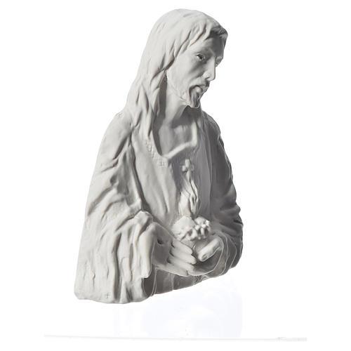 Sagrado Corazón de Jesús 18 cm,  en relieve 2