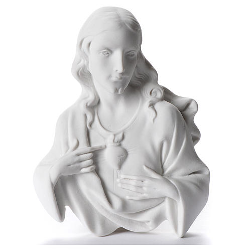 Applique Sacré Coeur de Jésus marbre 12 cm 1