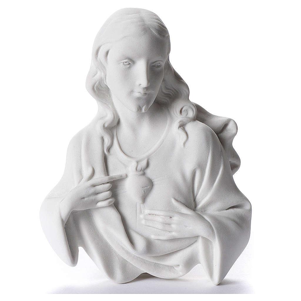 Sacro Cuore di Gesù cm 12 rilievo polvere di marmo 3