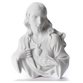 Sacro Cuore di Gesù cm 12 rilievo polvere di marmo