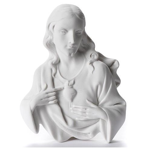 Sacro Cuore di Gesù cm 12 rilievo polvere di marmo 1