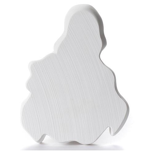 Sacro Cuore di Gesù cm 12 rilievo polvere di marmo 2