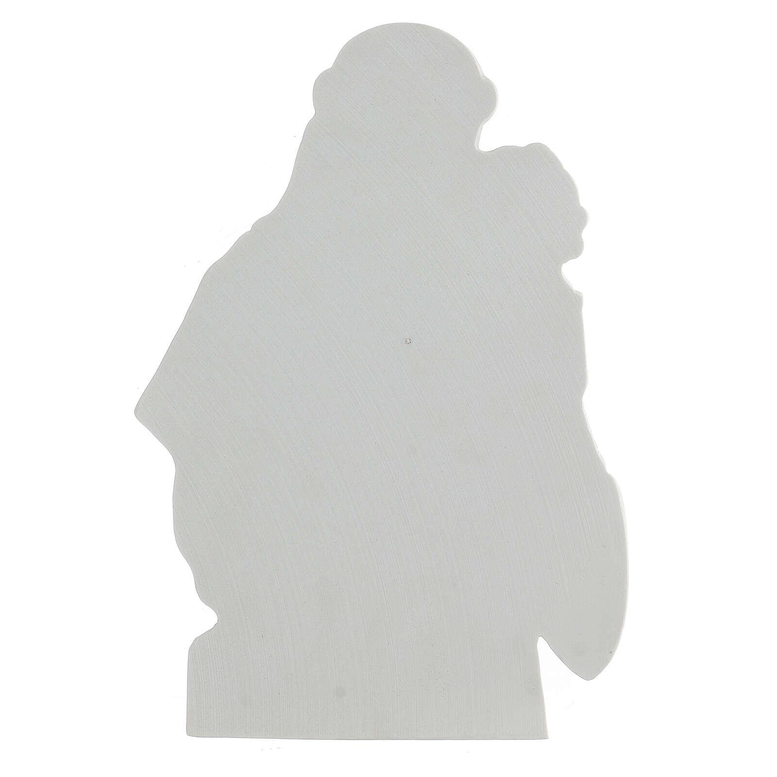 Sant'Antonio da Padova rilievo marmo 32 cm 3