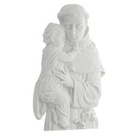 Sant'Antonio da Padova rilievo marmo 32 cm s3