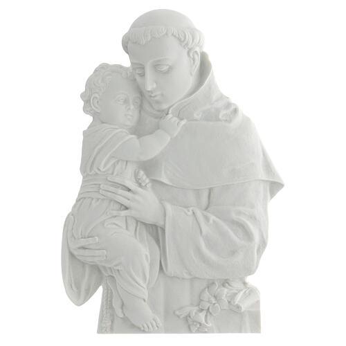Sant'Antonio da Padova rilievo marmo 32 cm 1