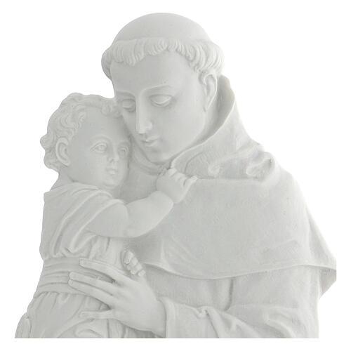 Sant'Antonio da Padova rilievo marmo 32 cm 2