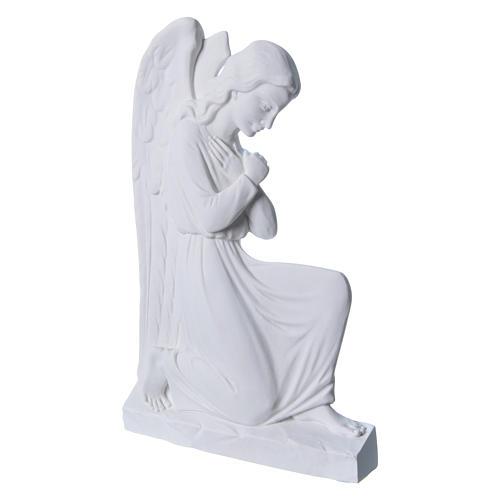 Ángel brazos entrelazados 25 cm, de mármol 2