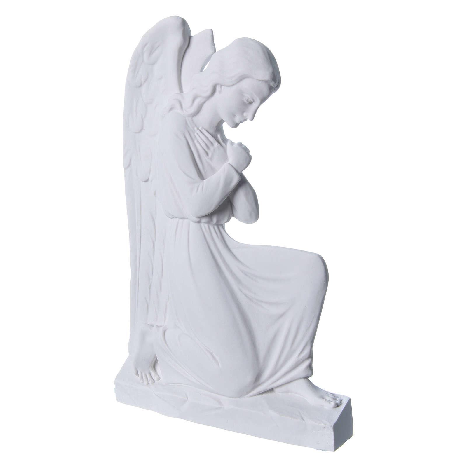 Applique Ange bras croisées marbre 25 cm 3