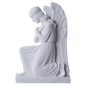 Engel auf den Knien 25 cm Relief weiß s1