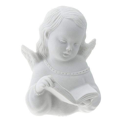 Angioletto con libro rilievo 13 cm 1