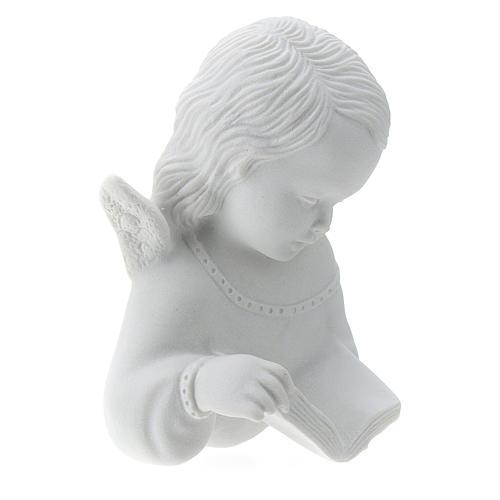 Angioletto con libro rilievo 13 cm 3