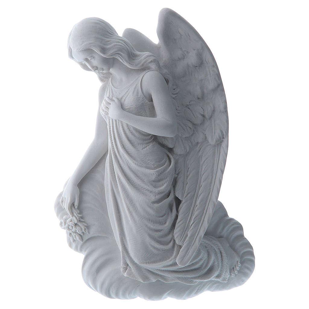 Applique ange sur un nuage 24 cm marbre 3