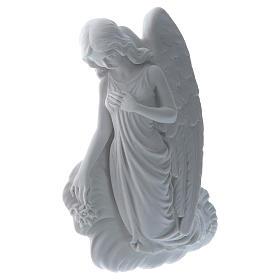 Applique ange sur un nuage 24 cm marbre s2
