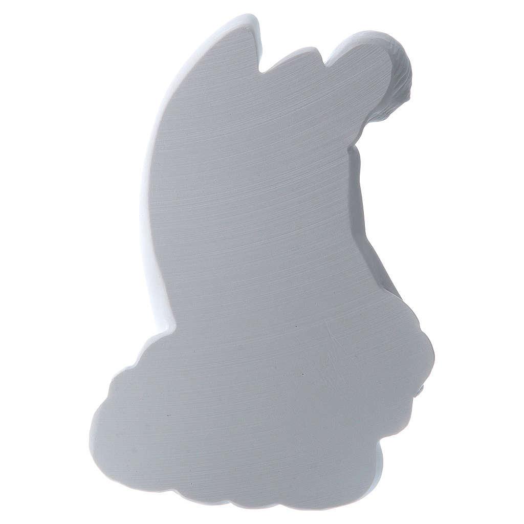Angelo su nuvola 24 cm marmo rilievo 3