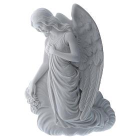 Angelo su nuvola 24 cm marmo rilievo s1
