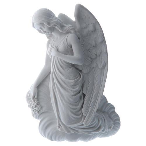 Angelo su nuvola 24 cm marmo rilievo 1