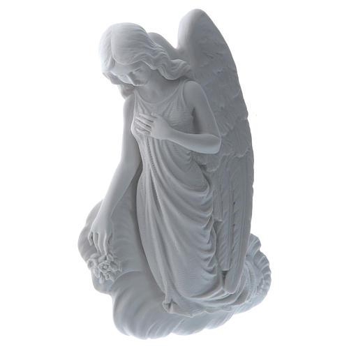 Angelo su nuvola 24 cm marmo rilievo 2