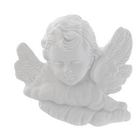 Testina angioletto 11 cm marmo rilievo s1