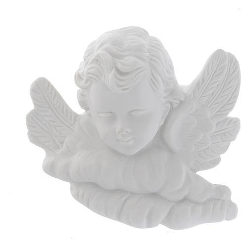 Testina angioletto 11 cm marmo rilievo 1