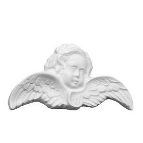 Cherub Head bas-relief in reconstituted carrara marble s1