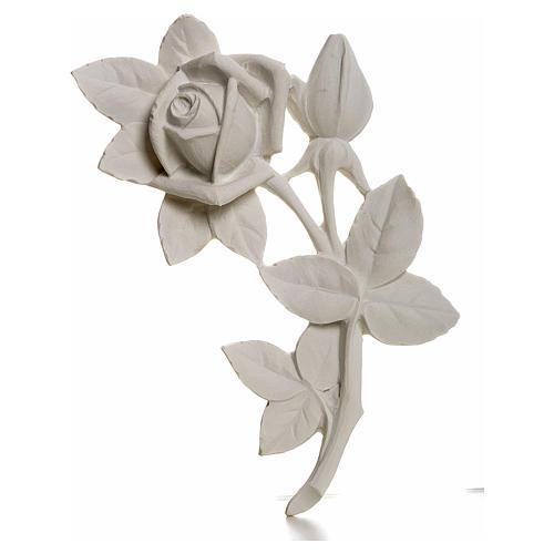Rosa 11 cm marmo per applicazioni 1