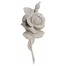 Rosa decoro 18 cm marmo per applicazioni s1