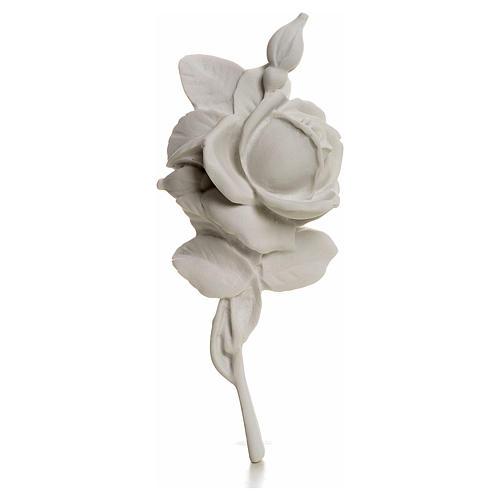 Rosa decoro 18 cm marmo per applicazioni 1