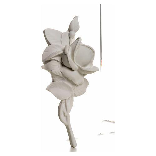 Rosa decoro 18 cm marmo per applicazioni 2