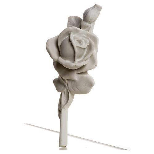 Rosa decoro 18 cm marmo per applicazioni 3
