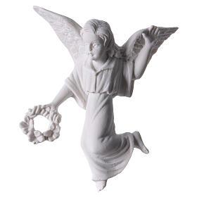 Ángel con corona, 11 cm  mármol para aplicaciones s1