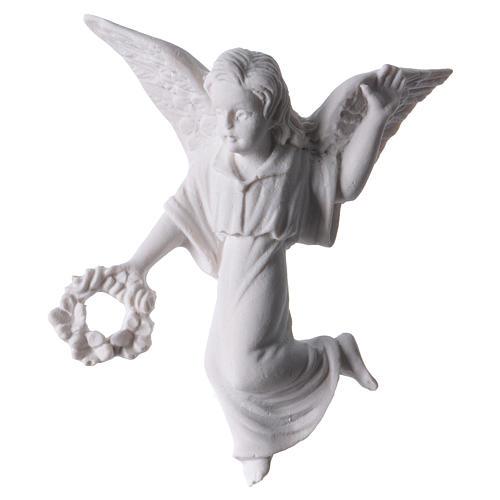 Ángel con corona, 11 cm  mármol para aplicaciones 1