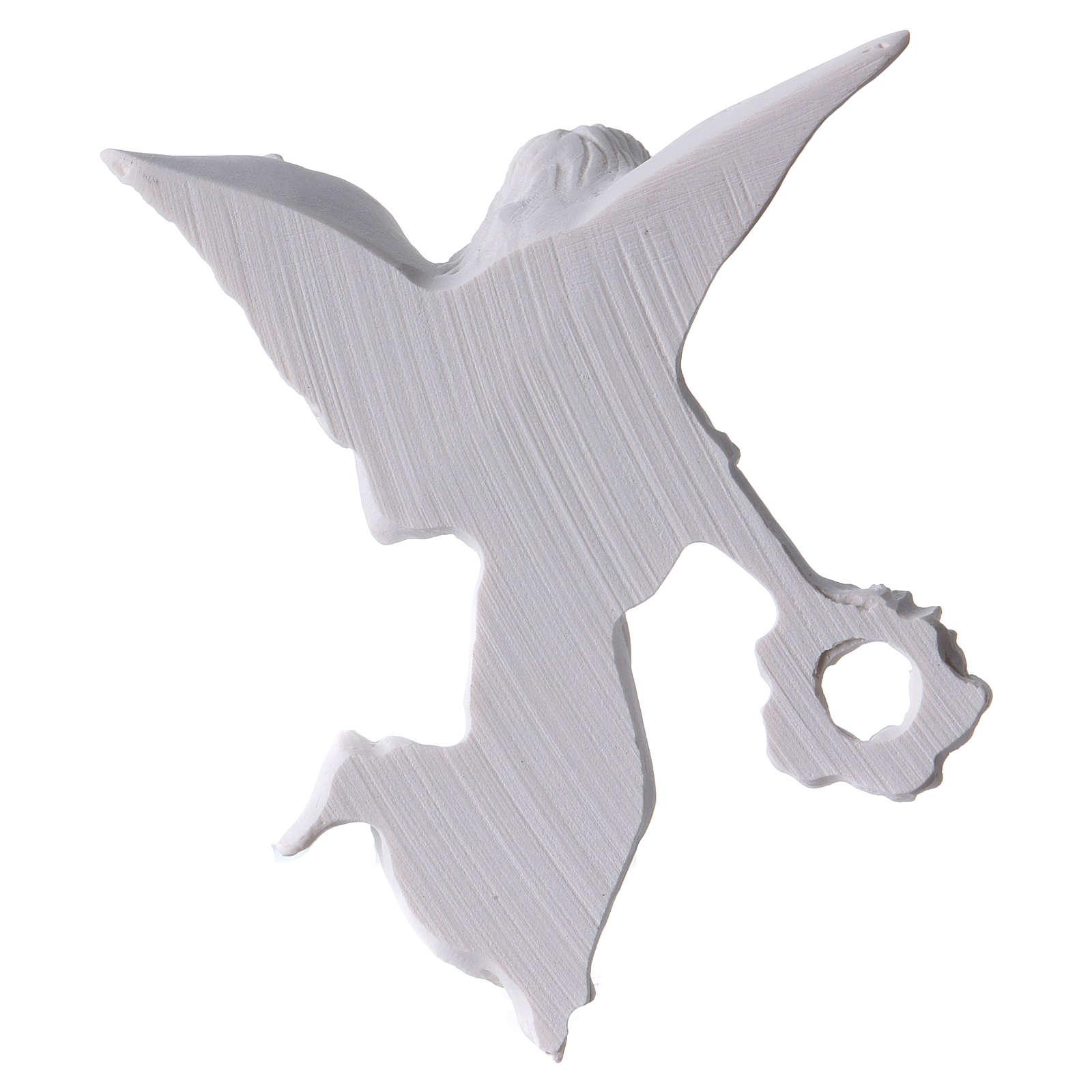 Applique ange avec couronne 11 cm marbre 3