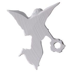 Applique ange avec couronne 11 cm marbre s2