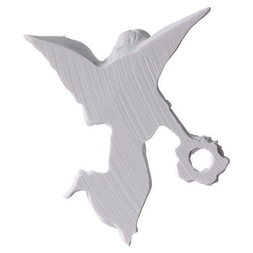 Applique ange avec couronne 11 cm marbre 2