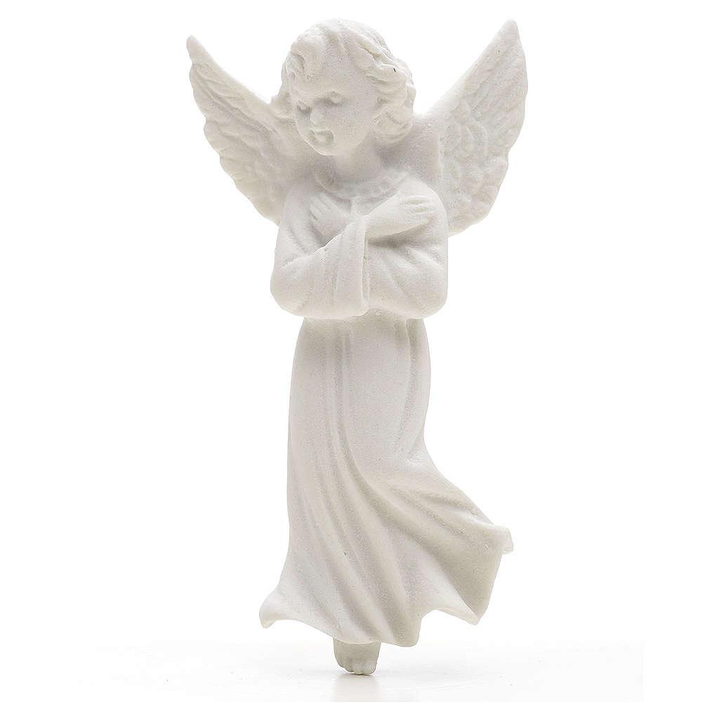 Applique ange bras croisées 11 cm marbre 3