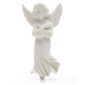Angelo mani incrociate 11 cm rilievo marmo s1