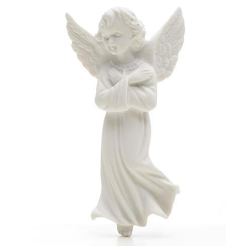 Angelo mani incrociate 11 cm rilievo marmo 1