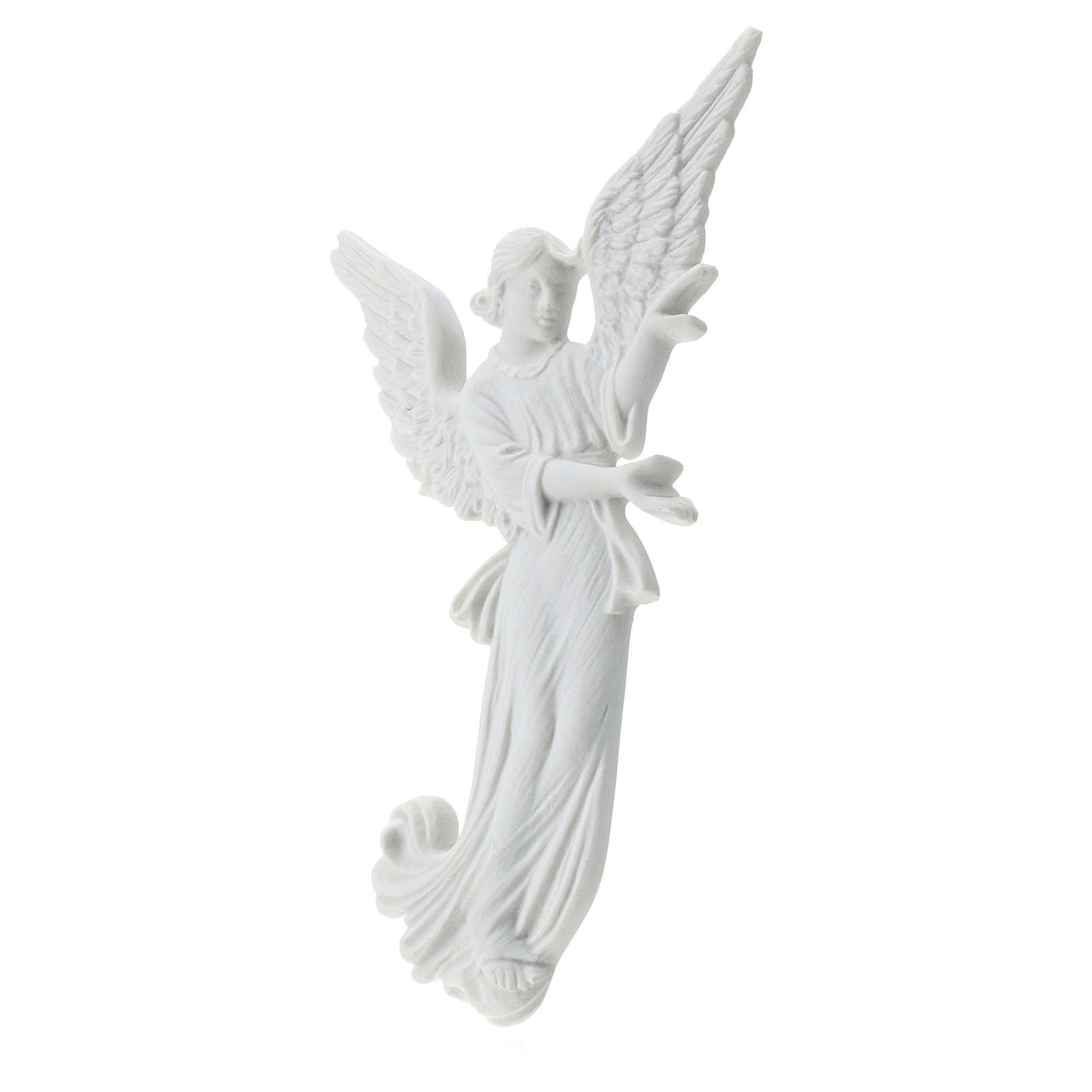 Angel bas-relief made of reconstituted carrara marble, 26 cm 3