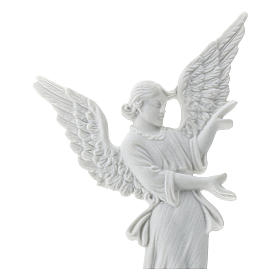 Angel bas-relief made of reconstituted carrara marble, 26 cm s2