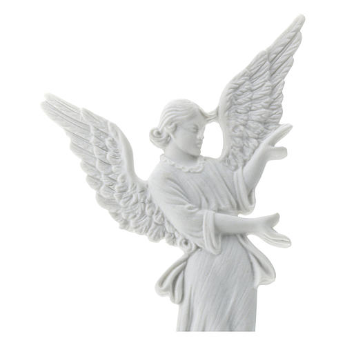 Angel bas-relief made of reconstituted carrara marble, 26 cm 2