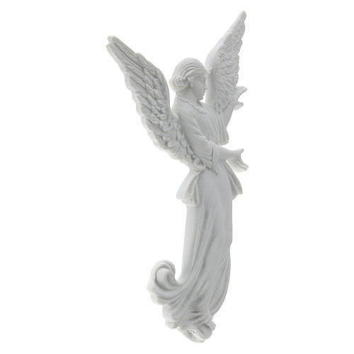 Angel bas-relief made of reconstituted carrara marble, 26 cm 4