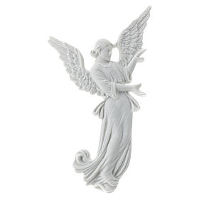 Bas relief angelot 26 cm marbre blanc s1